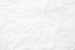 white paper crease or crumpled , abstract texture white background.