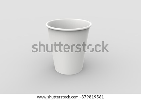 white paper cup close up template for your design ez canvas