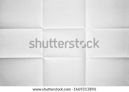 White paper folded in nine fraction background Photo stock ©