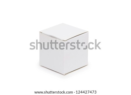 White paper gift box on isolated background