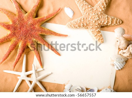 white paper on sand background