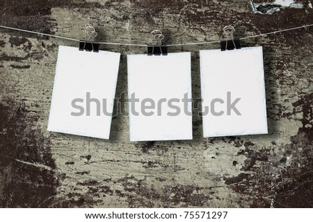 White paper on the background of the old wall