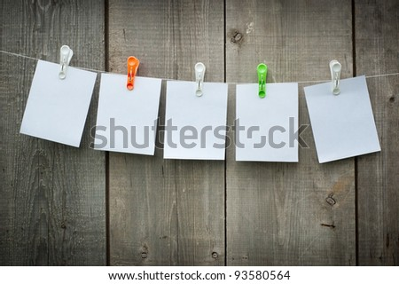 white paper over an old wood background