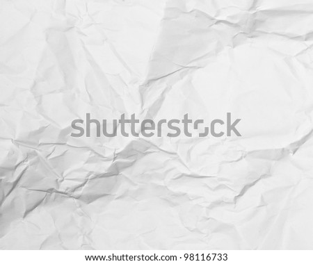 White paper page as background or texture