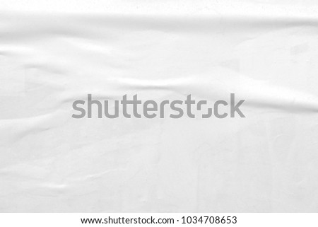White paper ripped torn background blank creased crumpled posters placard grunge textures surface backdrop  #1034708653
