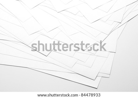 White paper sheets
