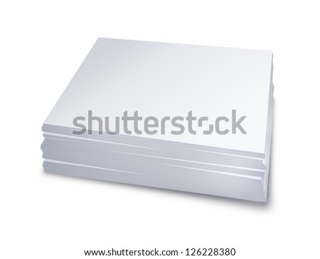 White paper stacked - isolated on white background
