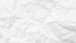 White Paper Texture background. Crumpled white paper abstract shape background with space paper for text
