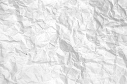 White Paper texture Crumpled Paper Top view.