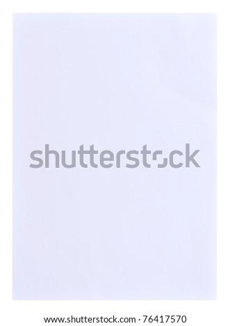 White paper texture on white background
