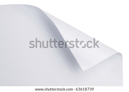 White paper with corner curl