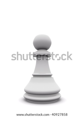 white pawn. 3d chess  game