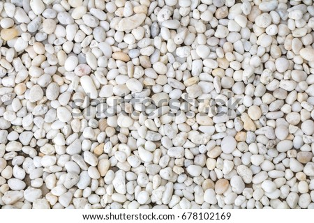 White pebble stone texture on the ground.  - Shutterstock ID 678102169