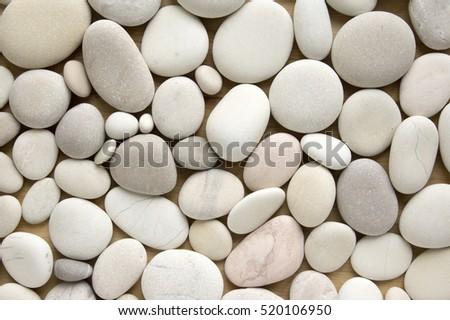 White pebbles background, simplicity, daylight, stones