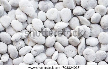 White pebbles stone texture and background  #708824035