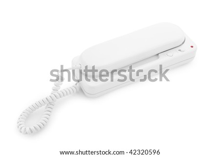 white phone isolated on a white background