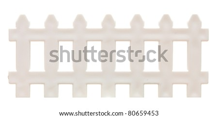white picket fence isolated on white. - stock photo