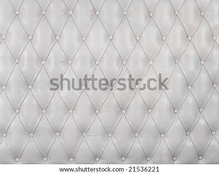 White picture of genuine leather upholstery