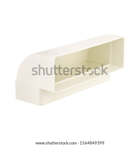 white piece of plastic on perfect white background pvc piping  #1564849399