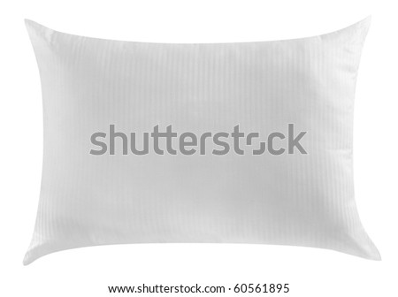 White pillow. Isolated