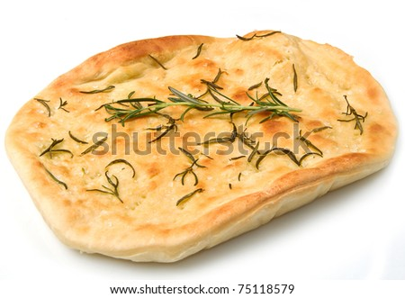 white pizza with fresh rosemary