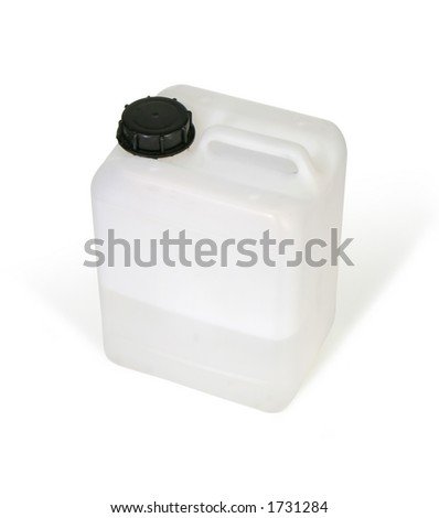White plastic bottle (w clipping path)