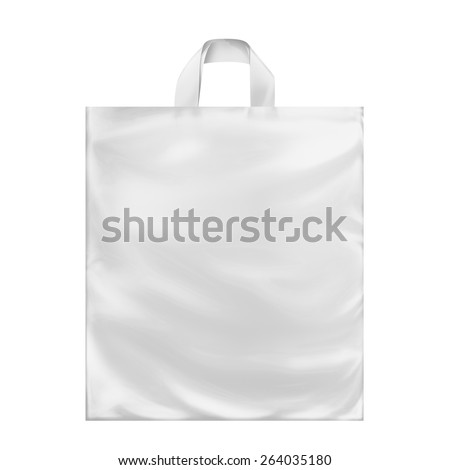 White Plastic Carrier Bags With Loop Handles