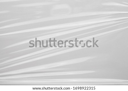 White plastic film wrap texture background stock photo
