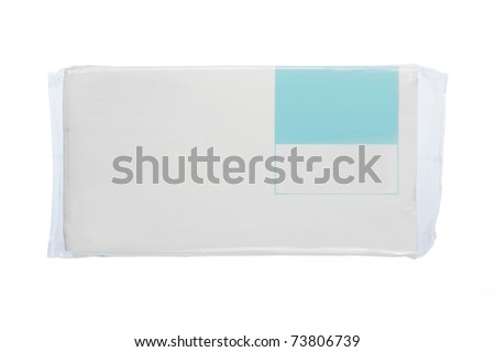 white plastic pack for new design. isolated over white