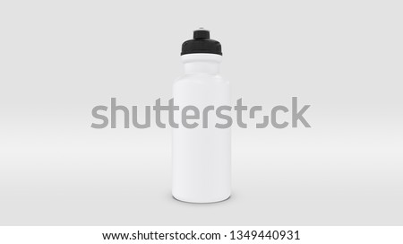 White Plastic Squeeze Bottle for Souvenir and Product Mockup Isolated on Studio or Infinite Background (3D rendering) Stockfoto ©