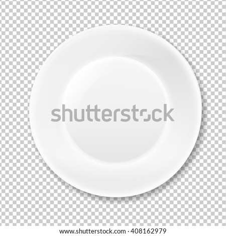 White Plate, Isolated on Transparent Background