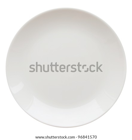 white plate isolated on white (series)