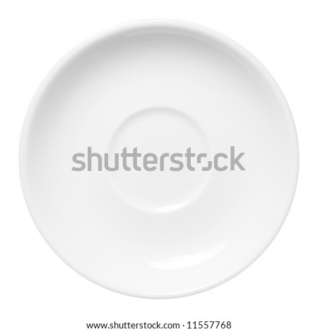White plate on the white background (isolated).