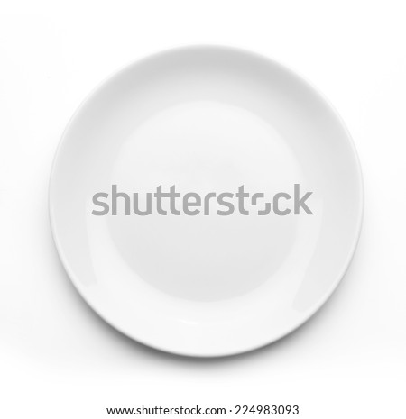 Photo of  White plate on white background