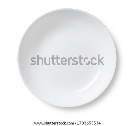Photo of  White plate placed on a white background