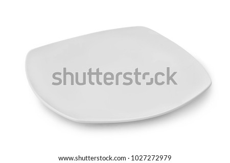 white plate. squareplate isolated on white