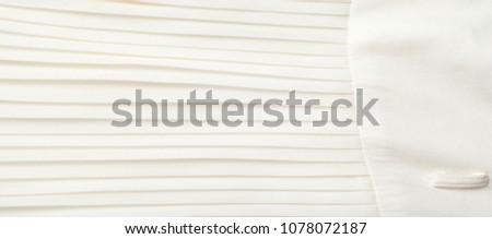 White pleated fabric texture. skirt girls ストックフォト ©