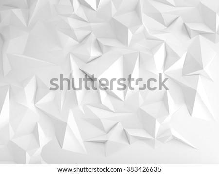 White polygonal triangle geometric background