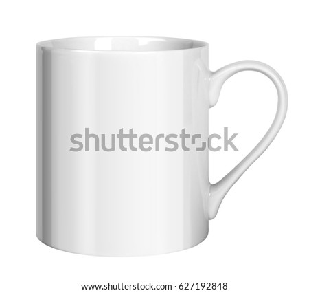 White porcelain cup isolated on white background #627192848
