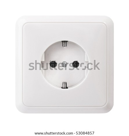 White power outlet, isolated