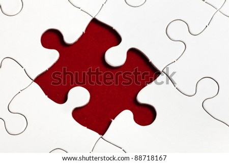 White Puzzle, business concept of Solution