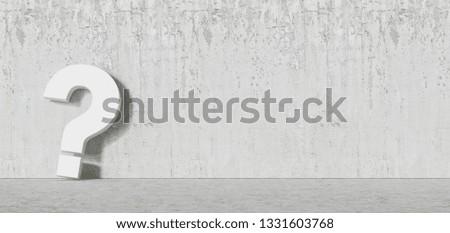 White question mark concrete Wall - FAQ Concept #1331603768