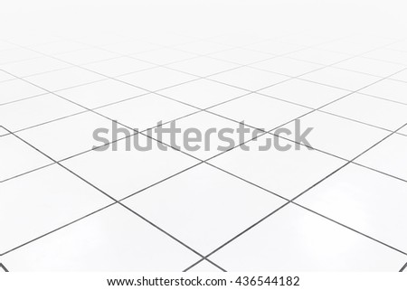 White raise floor or table floor clean condition with grid line for background.