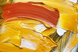 white, red, and yellow oil paint brush strokes texture background