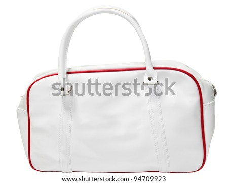 White&red  leather bag