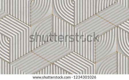White relief hexagons with golden scuffs. High quality seamless realistic texture.Black relief hexagons with golden scuffs. High quality seamless realistic texture.