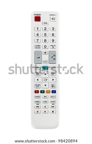 White remote control. Isolated on white background