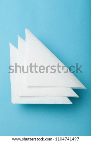 square table top view. White Restaurant Paper Napkin Mock Up. #1104741497 Square Table Top View