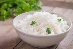 White rice in bowl