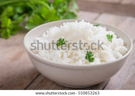 White rice in bowl #550853263